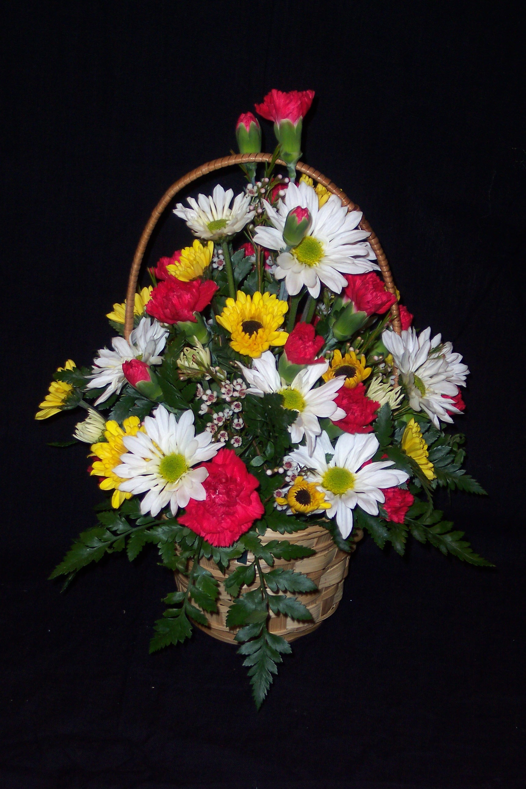 Seasonal Arrangement in Basket